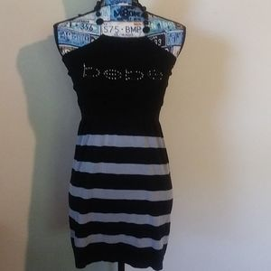 bebe black and gray dress